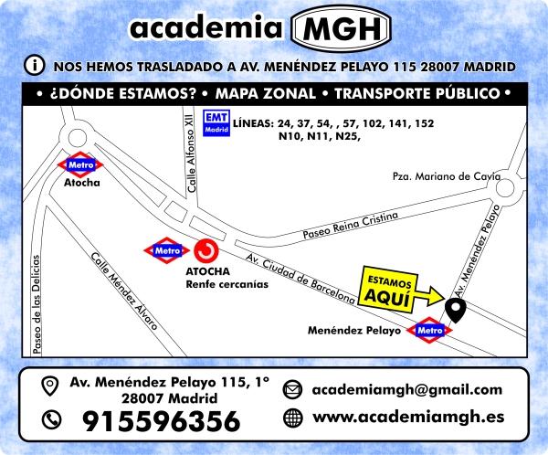 nueva dirección academia mgh