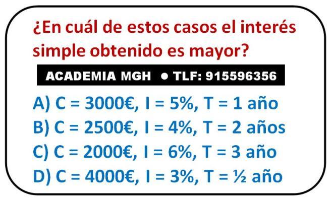 Test de cálculo